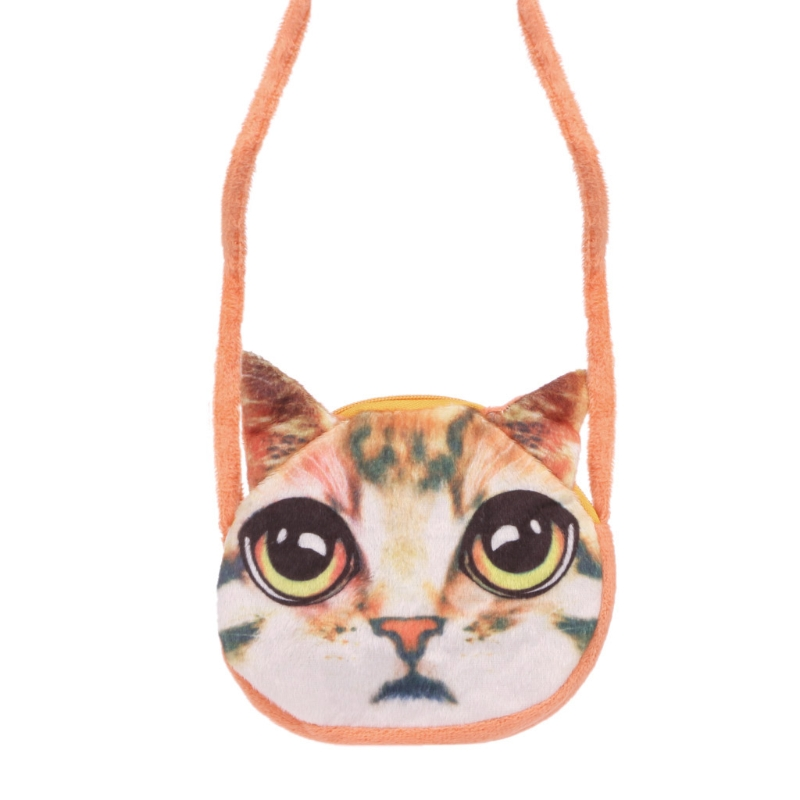 Lovely Kids Girl Small Cat Messenger Shoulder Bag Purses Crossbody Coin Pouch