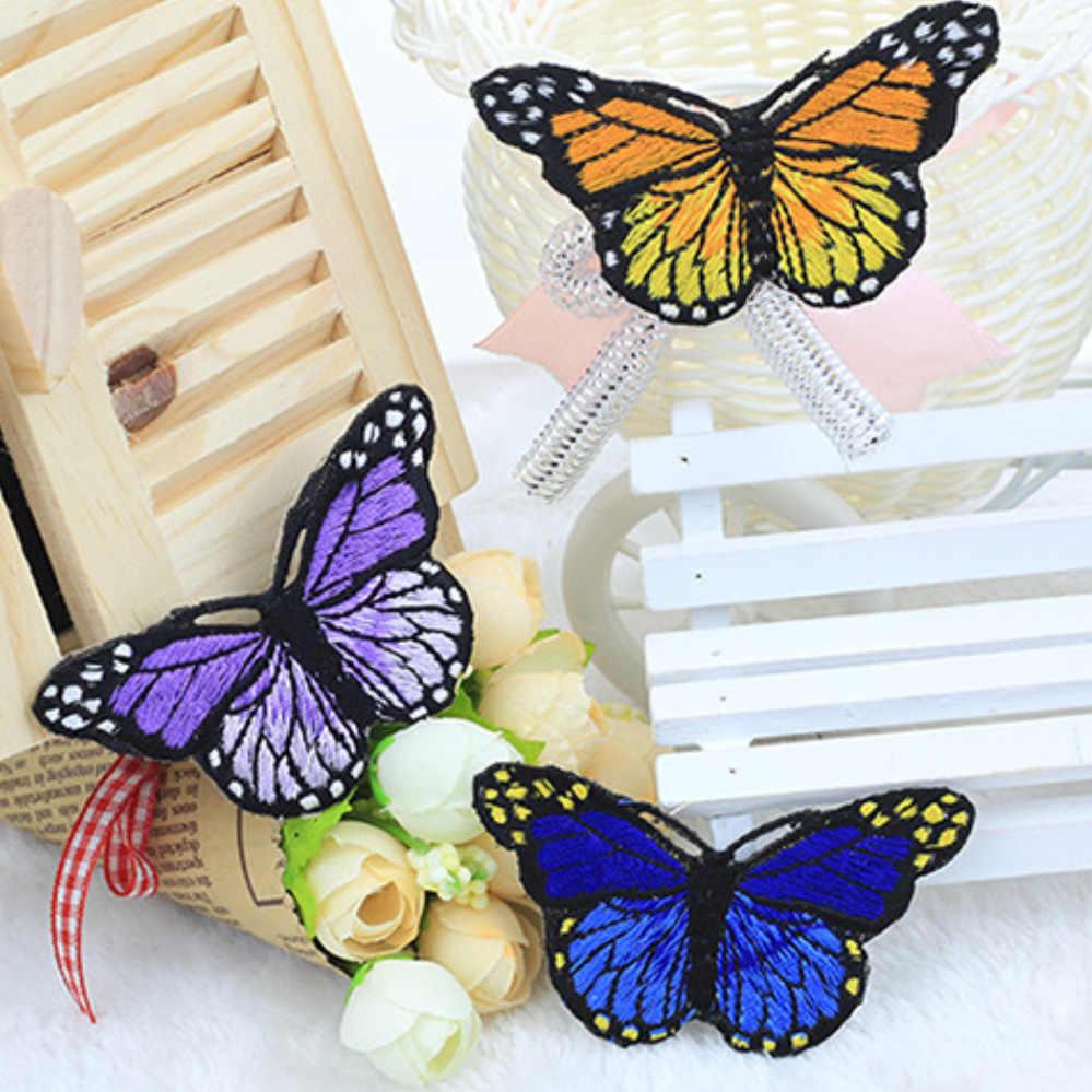10 개/대 여러 가지 빛깔의 나비 독특한 디자인 자수 applique 패치 스티커 diy 의류 장식 의류 액세서리
