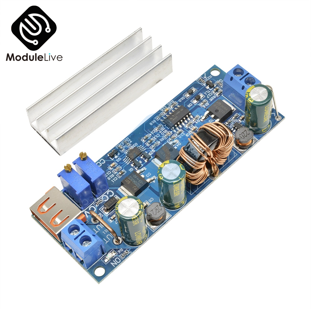<font><b>DC</b></font> <font><b>DC</b></font> <font><b>Step</b></font> <font><b>Up</b></font> Boost Converter 2-24v to 3-30v CC CV Power Adjustable Regulated Power Supply 3.7V 6V 9V 12V With Heatsink 4A 80w image