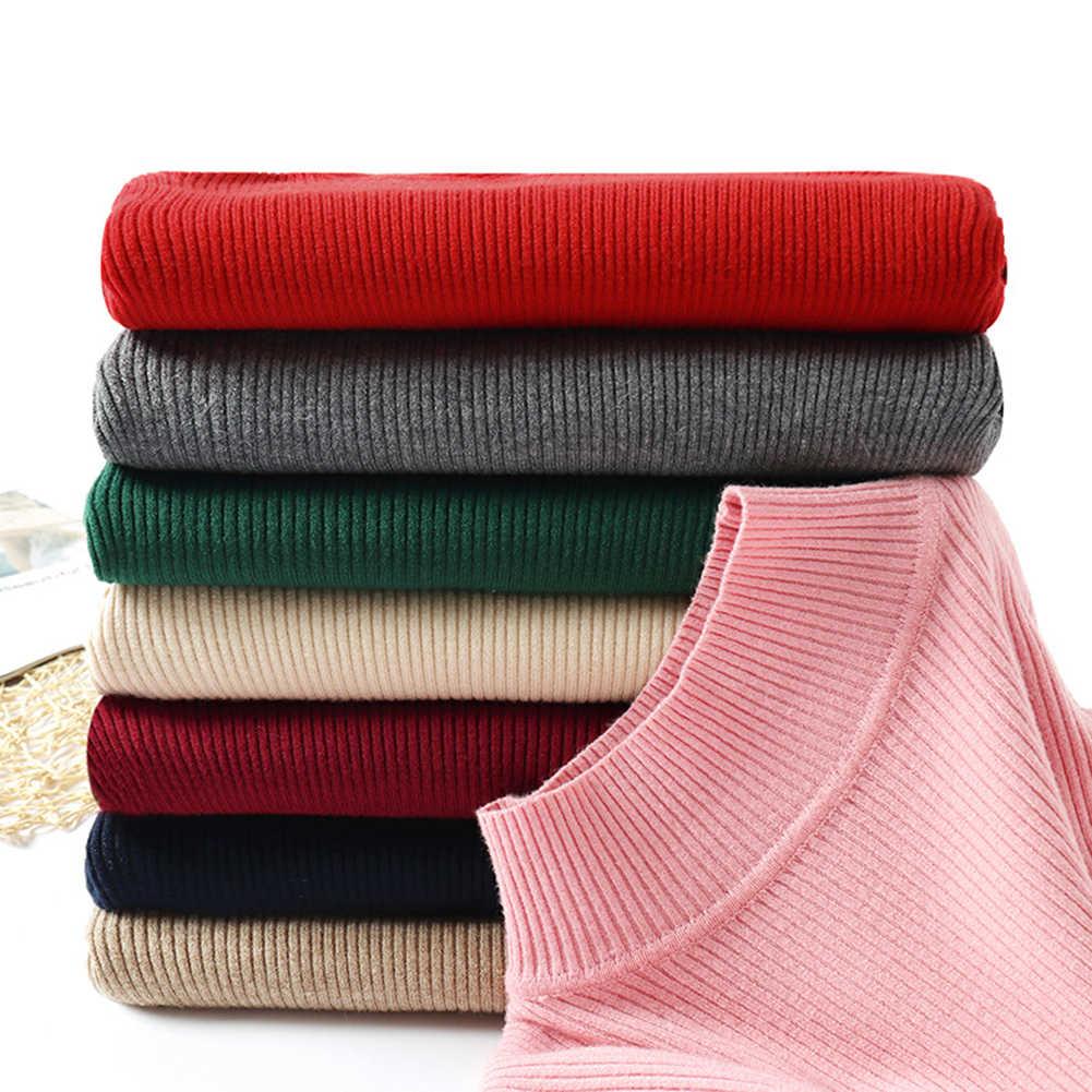 Водолазка жWomen 스웨터 터틀넥 스웨터 니트 탄성 점퍼 새로운 가을 겨울 터틀넥 풀오버 кофта женская