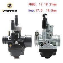 ZSDTRP 17 мм 19 мм 21 мм Dellorto PHBG DS черный гоночный Карбюратор Carb DIO JOG 50cc 90cc BWS100 для Puch Yamaha Zuma BING12 15 17 мм