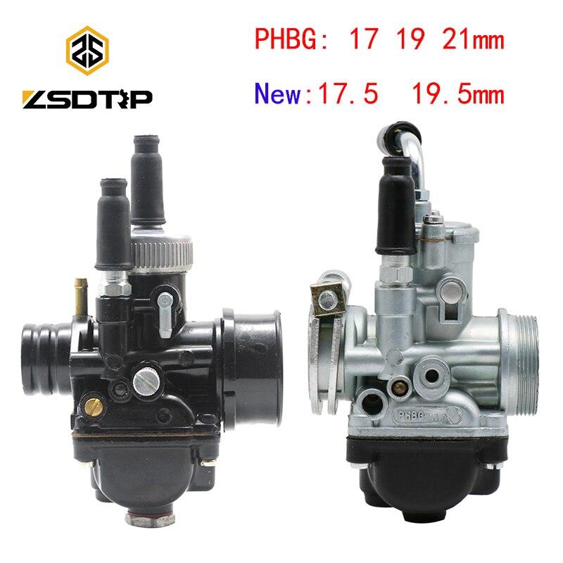 ZSDTRP 17mm 19mm 21mm Dellorto PHBG DS Black Racing Carburetor  Carb DIO JOG 50cc 90cc BWS100 for Puch Yamaha ZumaCarburetor   -