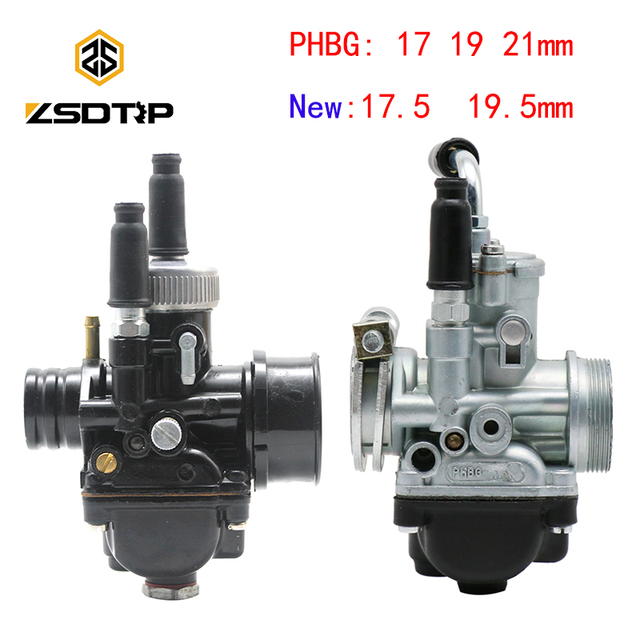 ZSDTRP 17mm 19mm 21mm Dellorto PHBG DS Black Racing Carburetor Carb DIO JOG 50cc 90cc BWS100 for Puch Yamaha Zuma BING12 15 17mm