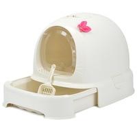 H1 Cat Closed Toilet s Sandbox Bedding Training Pet Bedpan Kitten Litter Box Supplies