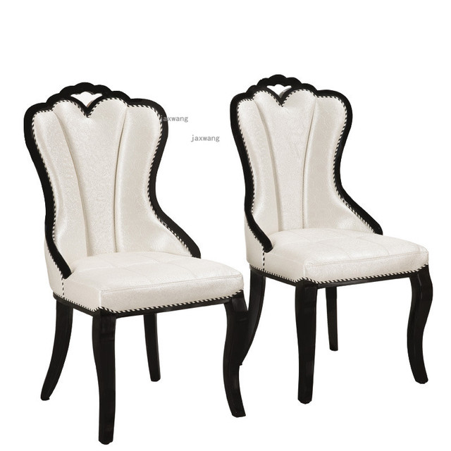 European Style Solid Wood Dining Chair 4