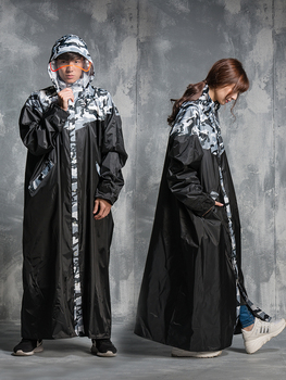 Jumpsuit Raincoat Women Hooded Jacket Impermeable Long Waterproof Poncho Outdoor Lightweight Impermeable Hiking Poncho KK60YY фото