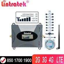 Lintratek – répéteur de Signal 2G/3G/4G, réseau Internet 850, 1800/900/1800/2100, GSM, DCS, WCDMA