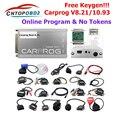 Онлайн Carprog V8.21 с генератором ключей автомобиля Prog V10.93 ECU чип тюнинг универсальный инструмент для ремонта со всеми 21 адаптерами автомобильны...