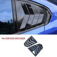 Janela traseira triangular para bmw g20 g28 2019 2020 320 3 série janela blinds triangular janela proteção capa acessórios do carro