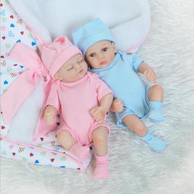 Twins reborn volle körper silikon Bebe Realistische Boneca Lebensechte Echte Mädchen Puppe lol Spielzeug für Kinder Menina Baby zubehör