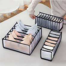 Organiseur de placard pour dortoir, 3 pièces, pour chaussettes, maison séparée, 7 grilles, soutien-gorge, tiroir pliable