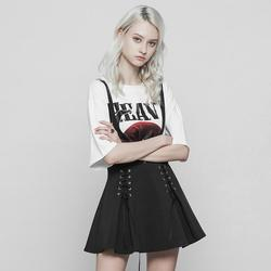 Punk Rave Women's Short Punk Skirt With Lacing OPQ-383