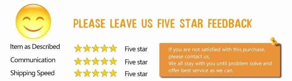 5 Stars Positive Feedback
