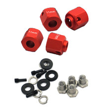 4Pcs Thickening Hexagonal Combiner Widening Wheel Hubs RC Crawler Model Car For TRX-4(China)