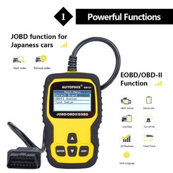 цена на Om127 OBD OBD2 Scanner Automotive Diagnostic Tool Car Engine Fault Code Reader O2 Sensor EVAP System Test OBDII Scanner