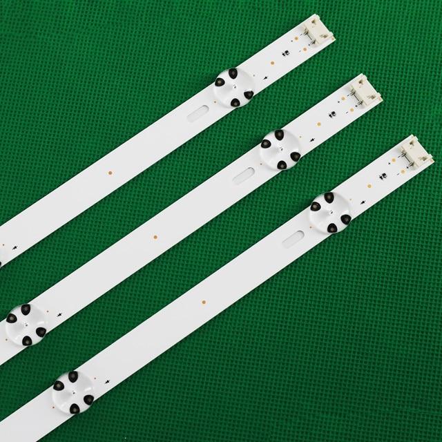 3 PCS LED Backlight strip for LG 43UJ635V 43UK6300PLB 43UJ651V 43UJ634V 43UJ630V 43UJ561V 43UJ655V LC43490059A LC43490058A 1