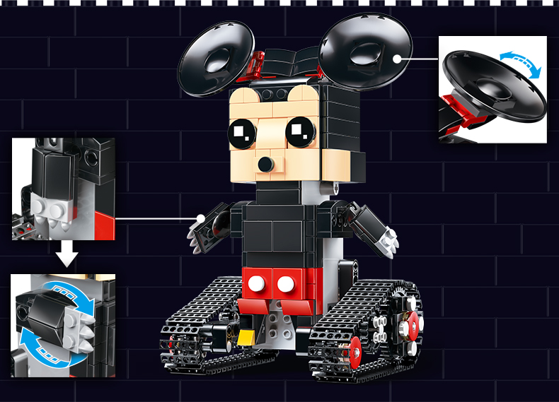 MOULD KING  Technic Crawler robot Walking Building Block 15