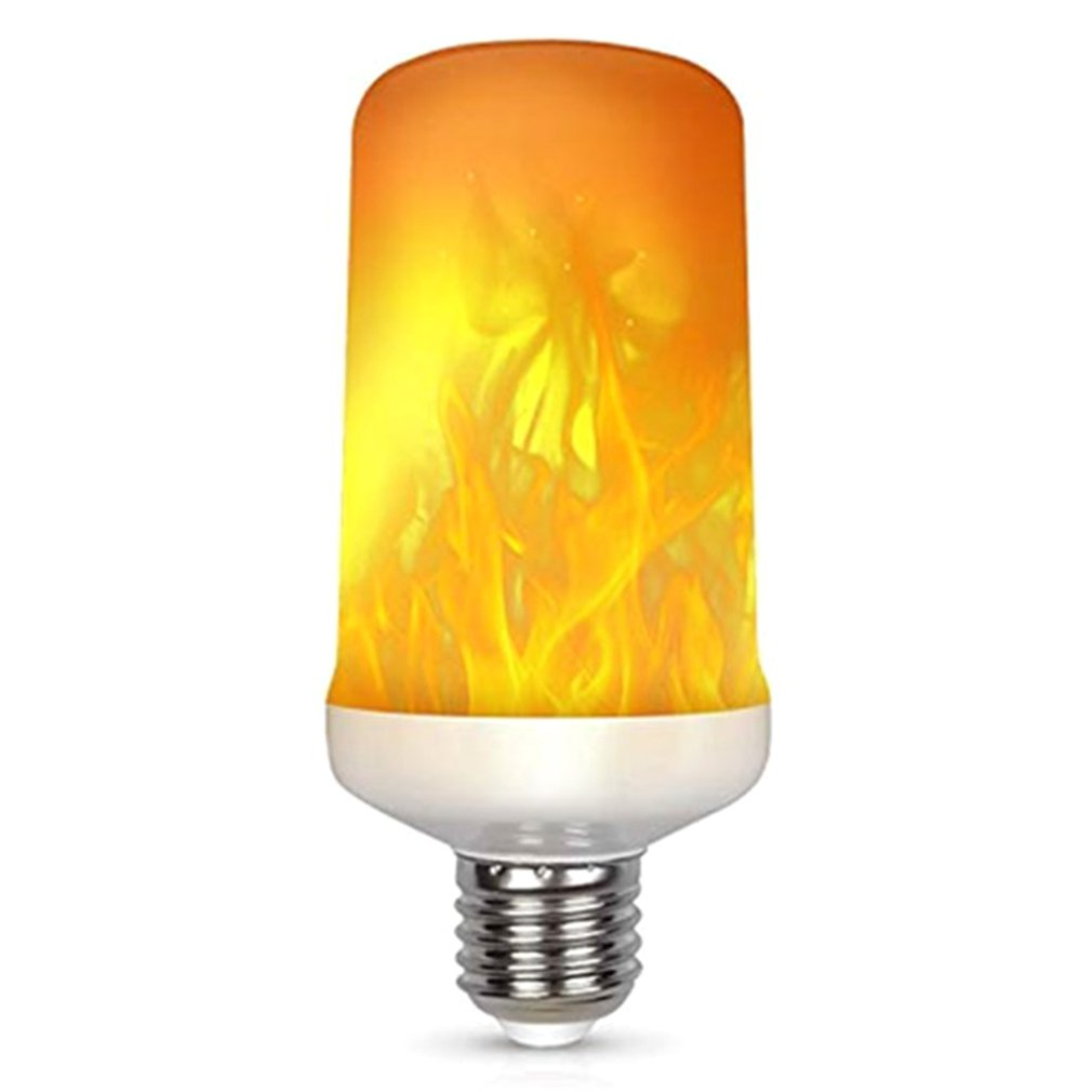 7W Gravity Induction Lamp 108 Beads Simulation Flame Bulb Led Lamp Fake Flame Torch Light Sale