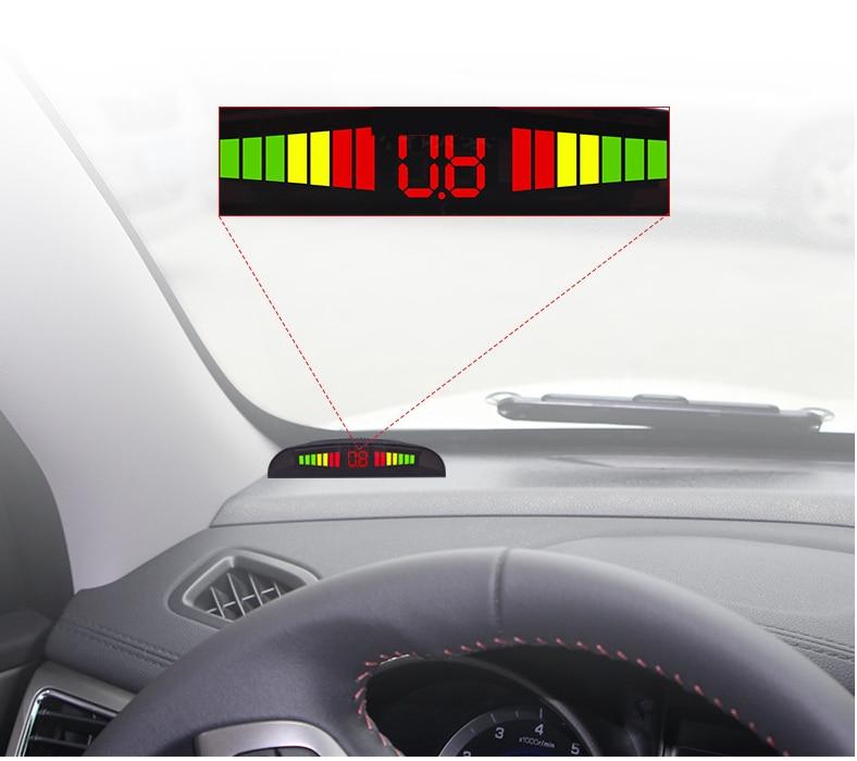 OBD digital front 4 parkplatz sensor system led-anzeige w + OBD stecker Ausgelöst automatisch geschwindigkeit niedriger als 20 km/h original