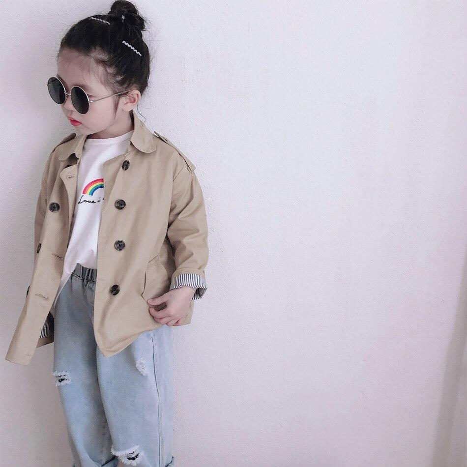 Primavera verão moda crianças solto rasgado jeans