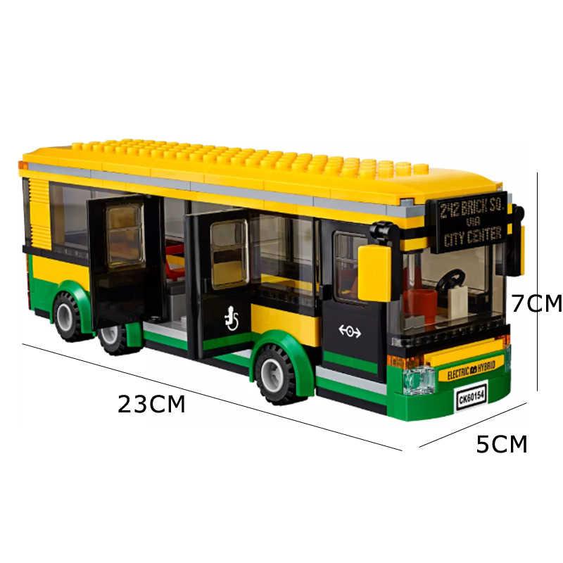 02078 02036 ville camion pick-up caravane ville Bus gare blocs de construction aéroport brique enfants jouets compatibles Legoed 3221 60154