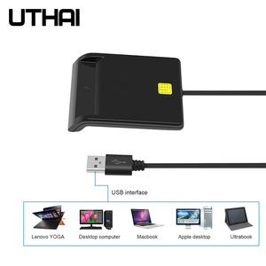 Image 3 - Uthai X01 Usb Smart Card Reader Voor Bankkaart Ic/Id Emv Kaartlezer Hoge Kwaliteit Voor Windows 7 8 10 Linux Os USB CCID Iso 7816