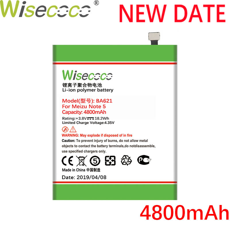 Wisecoco Battery For BA612 NOTE BT53S 6S Ce Replace Tracking-Number Zu M5S Mei PRO