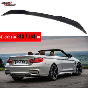 F33 F83 M4 Cabriolet Carbon Fiber Rear Spoiler Car Wing Styling Parts Accessories for BMW 2013 - 2020 4 Series Convertibles image