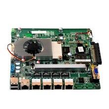 Заводская четырехъядерная Материнская плата Celeron Mini-itx, с процессором J1900, материнская плата 4 Гб 4 lan