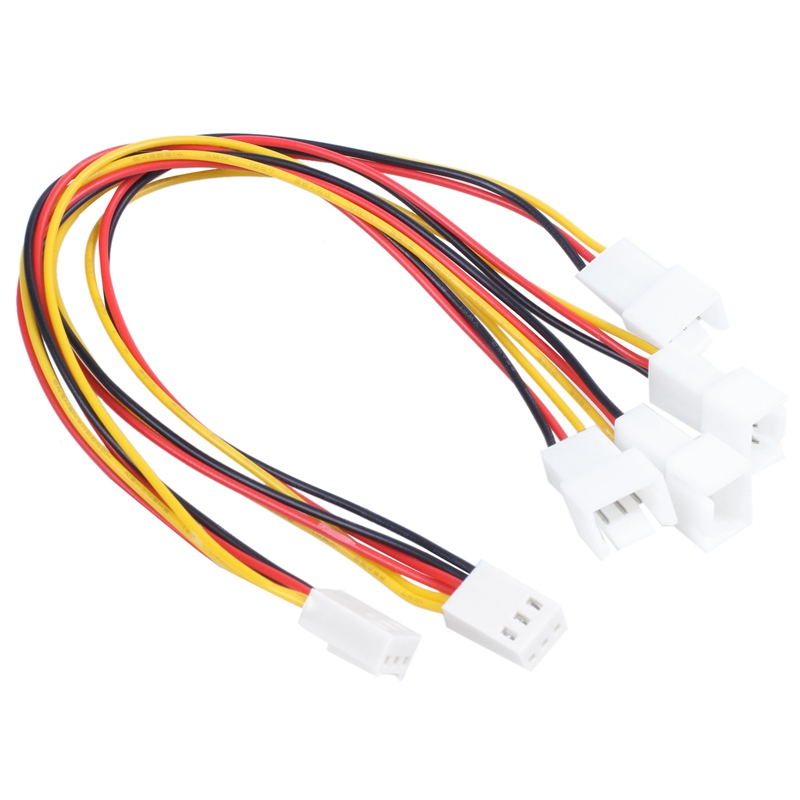 2 X 3 Pin PC Fan Splitter Extension Cable Female 20 Cm