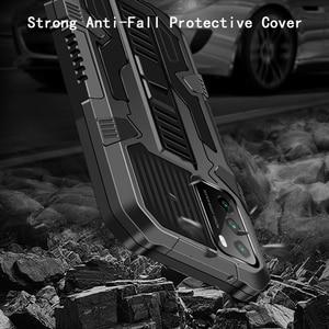 Image 5 - JKaiSen 숨겨진 킥 샤오미 POCO M3 POCO X3 Shockproof 브래킷 보호 커버 샤오미 POCO X3 NFC 케이스