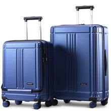 2pcs/set Family suit Durable ABS Rolling Luggage with Lock Spinner Lightweight Travel bag On Wheel 20/24 inch Cabin