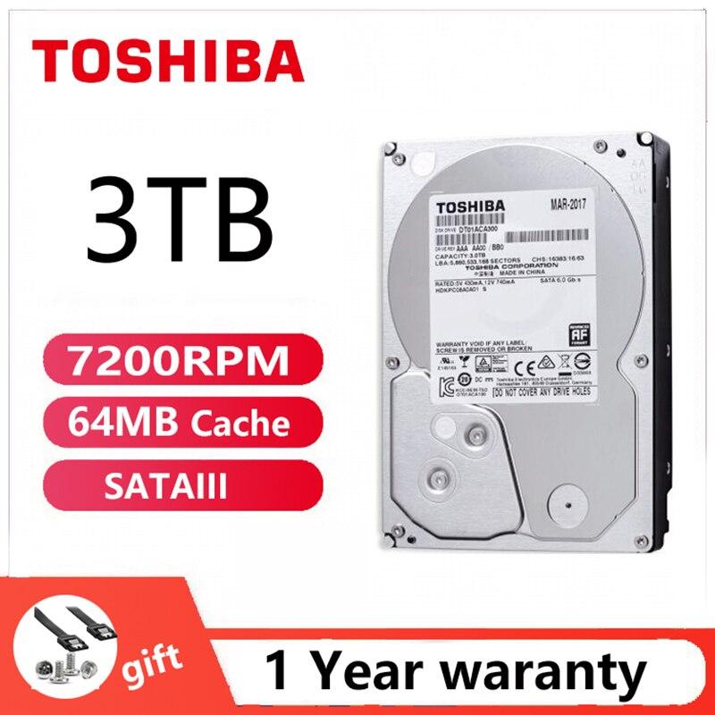 TOSHIBA 3 ТБ жесткий диск ACA300 3000GB игровой офис внутренний HDD HD 7200RPM 64M SATA3 3,5