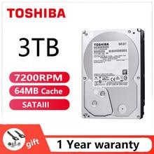 TOSHIBA-disco duro 3TB ACA300, 3000GB, HDD interno para Juegos de oficina, HD, 7200RPM, 64M, SATA3, 3,5 pulgadas, para ordenador de escritorio y PC