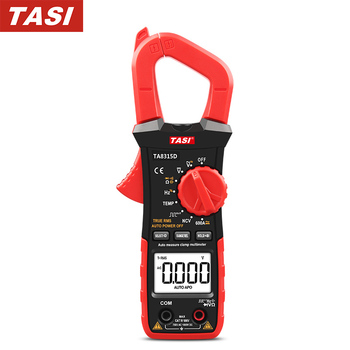 цена на TASI Clamp Meter Automatic Range AC DC Digital Clamp Multimeter With Capacitance Temperature NCV Frequency Tester TA8315A
