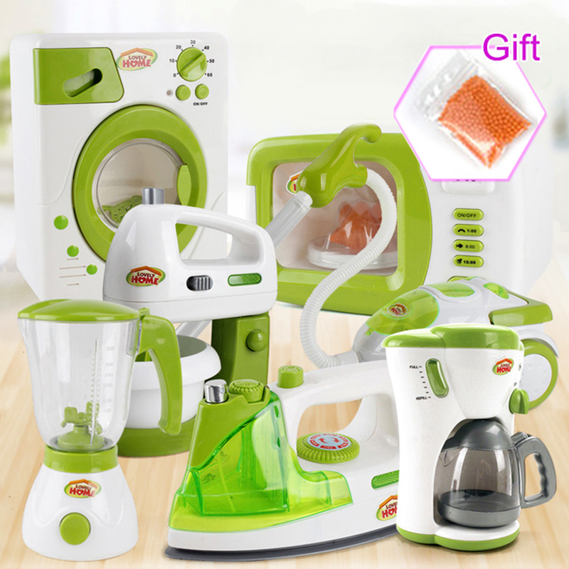 Simulation Home Appliances Kids Kitchen Toys Pretend Play Toys For Girls Light-up&Sound Coffee Machine Blender Kid Children Gift