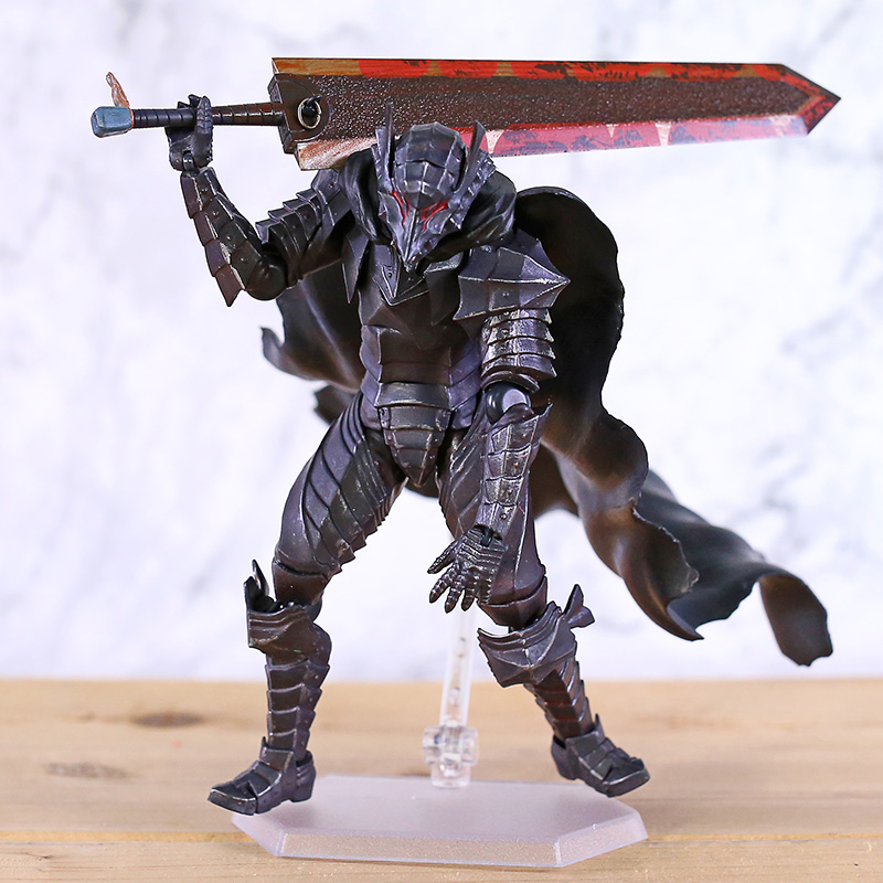 Anime Figma 410 Berserk Guts Berserker Armor ver PVC Figure New in Box 16cm