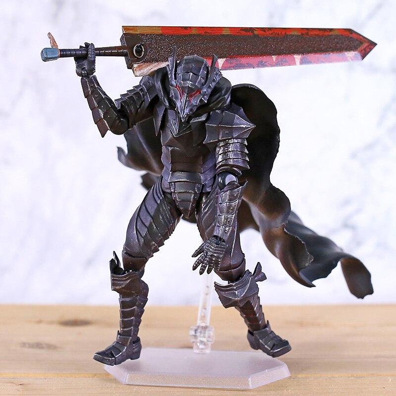 Berserk guts 410 berserker armor ver. Figura de ação colecionável figma em pvc, estatueta de brinquedo de modelo
