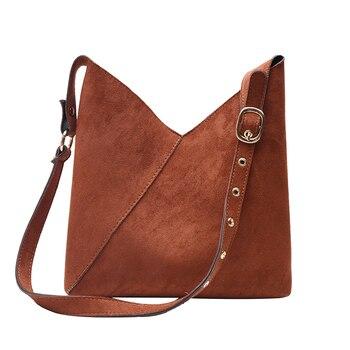 Splicing Contrast Bucket Shoulder Bag  5