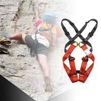 Professional Outdoor Sports Safety Belt Rock Climbing Harness Waist Support Half Body Harness Aerial Survival Equipment Portable