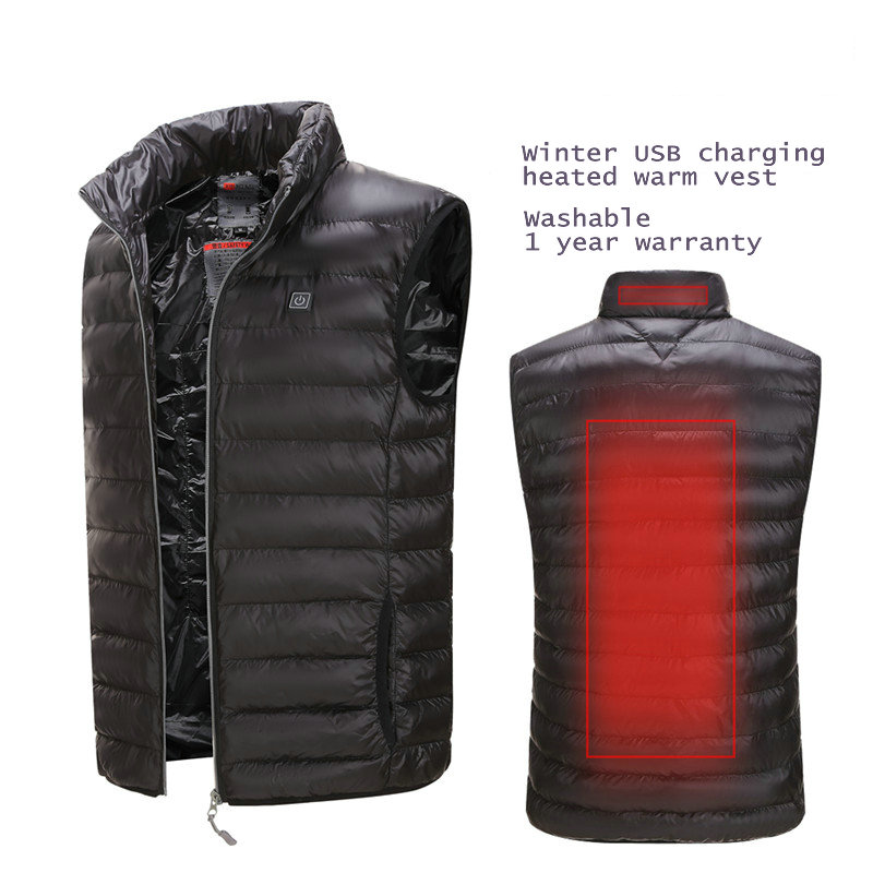 5V Electric Heated Vest USB Smart Heating Suit Winter Washable Heated Warm Vest Clothes Japan Carbon Fiber Safety Heating