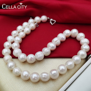 Женское Ожерелье из натурального пресноводного жемчуга, классическое тонкое ювелирное изделие, 11-12 мм