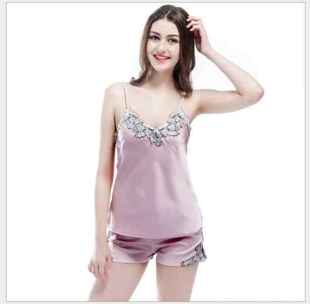 送料無料。ギフト夏レディースクラシックパジャマセット、スリングセクシーショート服、ソフト、女性のためのようにシルク。販売。ホーム