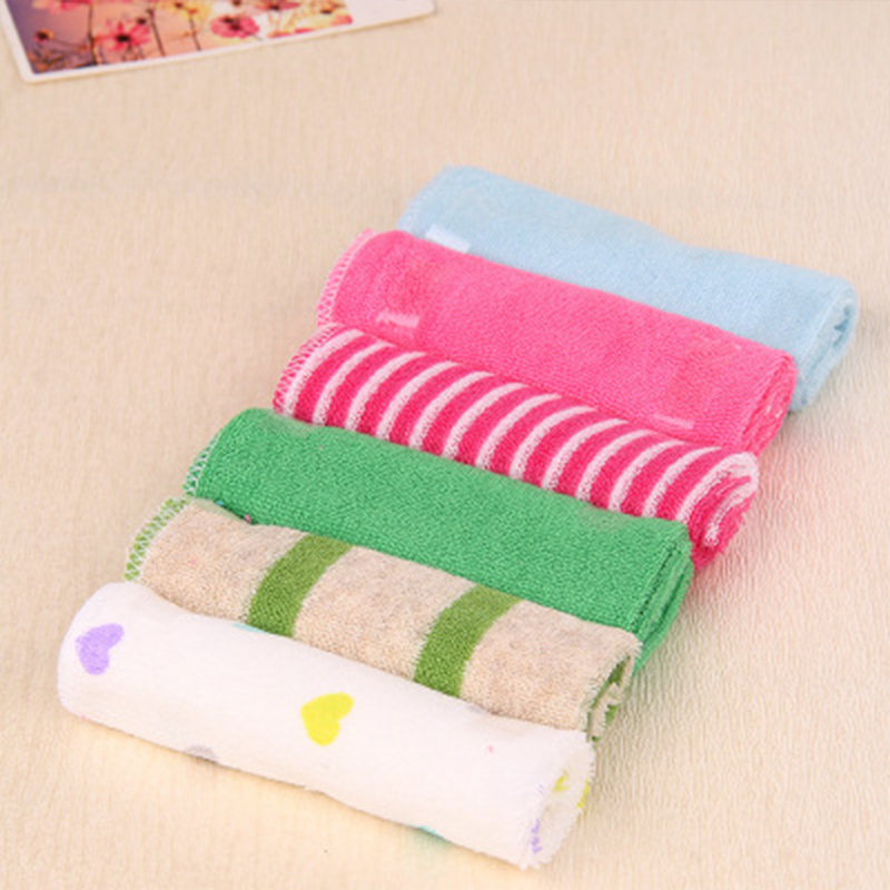 8pcs/pack Baby Multifunction Saliva Towel Kid Nursing Handkerchief Newborn 100% Cotton 22.9*22.9cm Random Colors Soft Wash Towel