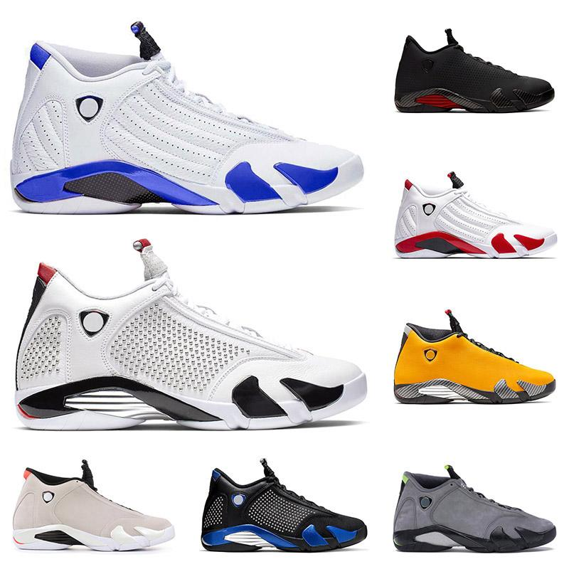 BRAND 2020 Men Retro 14 Basketball Shoes SPM X White SE Black XIV  Red Suede Candy Cane Designer Trainers Sneakers Size 7-13
