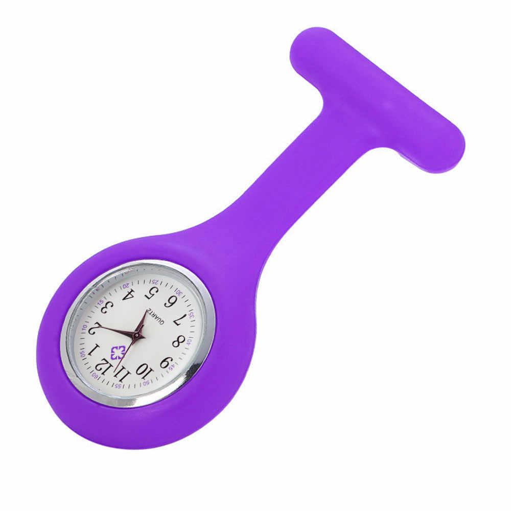Venda quente moda relógios silicone enfermeira relógio broche túnica fob relógio com bateria livre médico reloj de bolsillo @ 5