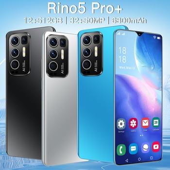 2021 Newest Smartphones Rino5 Pro 6.7Inch 16+512GB Face Fingerprint Mobile Phone MTK6889 32+50MP 6800mAh Andriod11.0 Cellphone 1