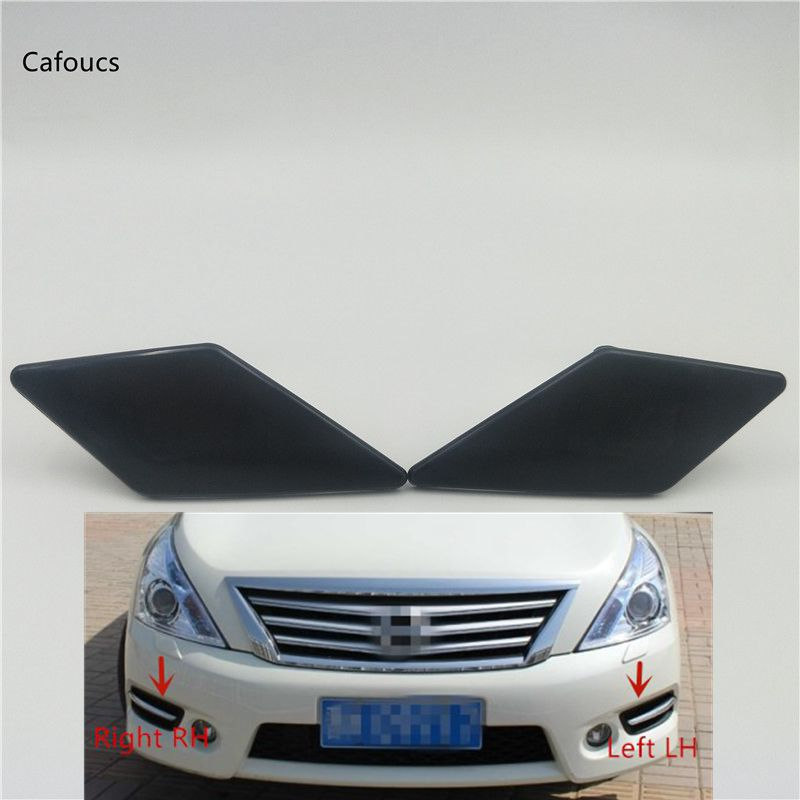 Cafoucs Headlight HeadLamp Spray Jet Cap Washer Nozzle Cover For Nissan TEANA XV Altima J32 2008-2012 image