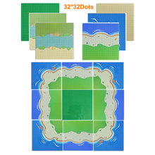 32 #215 32 Dots City Street BasePlate Colorful Sandy Beach Island Base plate Board DIY Building Blocks Compatible All Brands Blocks cheap leduo Unisex 6 years old Small building block(Compatible with Lego) Certificate 25 5cm*25 5cm Keep away from fire
