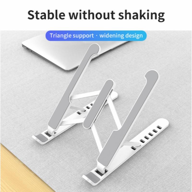 Suporte dobrável ajustável para laptop suporte antiderrapante desktop suporte para notebook  6